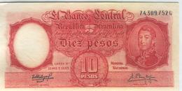 ARGENTINA 270c 1954-63 10 Pesos - Argentina