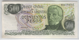 ARGENTINA 298a 1974-75 500 Pesos UNC - Argentine