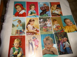 LOT DE 13 CARTES JEUNES ENFANTS .. - Cartoline