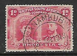S.Rhodesia / B.S.A.Co., 1d Doublle Head BWANAMKUBWA 26 JUN 1913 C.d.s. - Rhodésie Du Sud (...-1964)