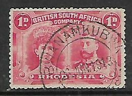 S.Rhodesia / B.S.A.Co., 1d Doublle Head BWANAMKUBWA 26 JUN 1913 C.d.s. - Southern Rhodesia (...-1964)