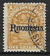 S.Rhodesia / B.S.A.Co., 1909 Rhodesia Opt On BSACo, 1/= Bistre, Missing Stop Used - Southern Rhodesia (...-1964)