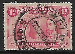 S.Rhodesia  / BSACo 1910 Double Head, 1d Used GWELO S. RHODESIA C.d.s., Used - Rhodésie Du Sud (...-1964)
