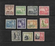 Malta, George VI, Pictorials 11 Vals 1/2d To 2/6 MH* - Malta (...-1964)