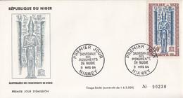 Enveloppe  FDC   1er  Jour   NIGER  Sauvegarde  Des  Monuments  De   Nubie   1963 - Egyptology