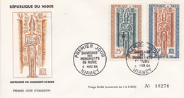Enveloppe  FDC   1er  Jour   NIGER  Sauvegarde  Des  Monuments  De   Nubie   1963 - Egyptologie