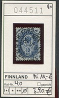 Finnland - Finland - Suomi - Finlande - Michel 40 - Oo Oblit. Used Gebruikt - 1856-1917 Russian Government