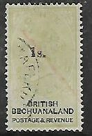 Bechuanaland 1888, 1s Opt On One Shilling, , Used By Part Of  Mafeking C.d.s. - Bechuanaland (...-1966)