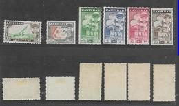 Zanzibar, 1961, 5/=, 7/50, 10/=, 20/= MH* - Zanzibar (...-1963)