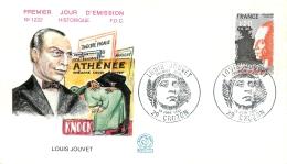 PREMIER JOUR D'EMISSION F.D.C. N°1222  13 JUIN 1981 LOUIS JOUVET - FDC