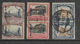 South West Africa, 1927  Opt On S.Africa, 2d, 3d, 6d, Vertical Pairs Used - South West Africa (1923-1990)