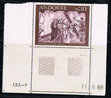 ANDORRE Y&T N° 192 Fresque 0.30 - NEUF Sans Charnière - Frans-Andorra