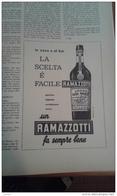 AMARO RAMAZZOTI   Anni 60 Advertising Pubblicità - Alcoholes
