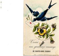 Carte à Système De Ste-Anne-d'Auray. Hirondelle - Sainte Anne D'Auray