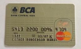 Indonesie Kredietkaart - Indonesia Creditcard (MASTERCARD BCA BANK) Used - Credit Cards (Exp. Date Min. 10 Years)
