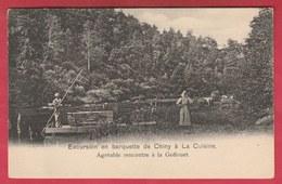 Chiny - Excursion En Barquette - Agréable Rencontre à La Goflouet ( Voir Verso ) - Chiny