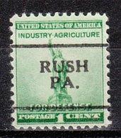USA Precancel Vorausentwertung Preo, Locals Pennsylvania, Rush 701 - Etats-Unis