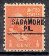 USA Precancel Vorausentwertung Preo, Locals Pennsylvania, Sagamore 745 - Vereinigte Staaten