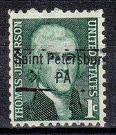USA Precancel Vorausentwertung Preo, Locals Pennsylvania, Saint Petersburg 843 - Vereinigte Staaten