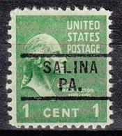 USA Precancel Vorausentwertung Preo, Locals Pennsylvania, Salina 729 - Vereinigte Staaten
