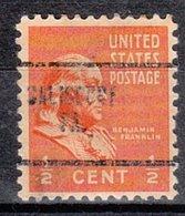 USA Precancel Vorausentwertung Preo, Locals Pennsylvania, Salisbury 704 - Vereinigte Staaten