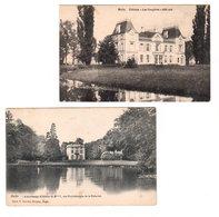 2 CPA MELLE 2 Châteaux : 1) Kalverhaege Château Du Baron Van Pottelsberghe De La Potterie / 2) Les Fougères - Melle