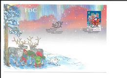 PERE NOËL 1ER JOUR FINLANDE RENNES NAIN TRAINEAU LAPIN - Christmas