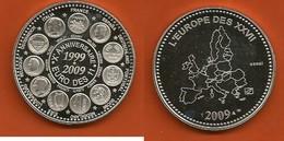 SUPERBE Et GRAND ESSAI De Médaille Argent EURO Des 11 Anniversaire 1999 - 2009 SILVER PROOF MEDAL - Euros Of The Cities
