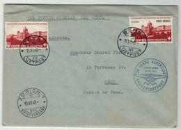 Suisse // Schweiz // Switzerland  // Poste Aérienne // Lettre Pour Orbe Par Vol Pro-Aéro De Bern Le 13.07.1943 - Poste Aérienne