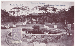 CPA - Mozambique - Lourenço Marques - Jardim Municipal (maputo, Tunduru, Vasco Da Gama)- 1919 - Mozambique