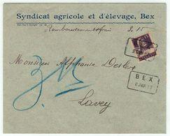 Suisse // Schweiz // Switzerland  // 1907-1939 // Lettre Pour Lavey Au Départ De Bex Avec Cachet Spécial 8.01.1917 - Svizzera