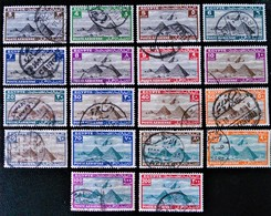 ROYAUME - POSTE AERIENNE 1933/38 - OBLITERES - YT PA 7/24 - MI 166/83 - Egypt