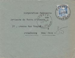 Env Affr Y&T 718A Obl CERNAY Du 12.6.1947 Adressée à Strasbourg - Poststempel (Briefe)