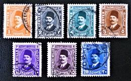ROYAUME - ROI FOUAD 1ER 1936/37 - OBLITERES - YT 172/78 - MI 213/19 - Egypt