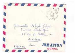 FRANCE Guerre D' Algérie Lettre Par Avion Poste Aux Armées AFN 13 Mai 1960 à Destination Asnieres Brigadier SP 88207 - Marcophilie (Lettres)