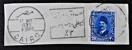 ROYAUME - ROI FOUAD 1ER 1936/37 - MAGNIFIQUE OBLITERATION OBLITER SUR FRAGMENT  - YT 178 - MI 213 - Egypt