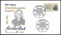1971 - BERLIN - FDC - Michel 392 [Johann Sebastian Bach] + BERLIN 12 - [5] Berlin
