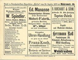 BERLIN Poste Privée  EP Avec Publicités - 1873 - Poste Privée