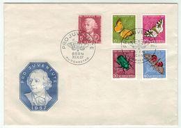 Suisse // Schweiz // Switzerland  // Pro-Juventute // 1957 Lettre 1er Jour Du 30.11.1957 - Lettres & Documents
