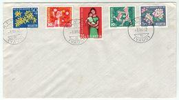 Suisse // Schweiz // Switzerland  // Pro-Juventute // 1962 Lettre 1er Jour Rivaz Du 01.12.1962 - Lettres & Documents