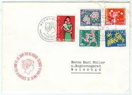 Suisse // Schweiz // Switzerland  // Pro-Juventute // 1962 Lettre 1er Jour Du 01.12.1962 - Lettres & Documents