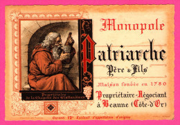 Étiquette De Vin - Patriarche Père Et Fils - Négociant à Beaune - Chapelle Des Visitandines - Maison Fondée En 1780 - Bordeaux
