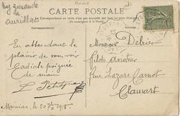 CONVOYEUR EYGURANDE AURILLAC 1° CORREZE CANTAL CPA MAURIAC - Storia Postale