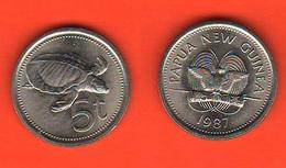 Papua Nuova Guinea 1987 5 Toea Turtle Schildpatt - Guinée