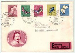 Suisse // Schweiz // Switzerland  // Pro-Juventute // 1956 Lettre 1er Jour Du 01.12.1956 - Lettres & Documents