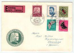 Suisse // Schweiz // Switzerland  // Pro-Juventute // 1953 Lettre 1er Jour Du 01.12.1953 - Lettres & Documents