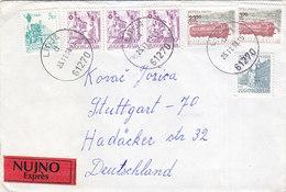 Yugoslavia Express Cover Sent To Germany Litija 1983 - Briefe U. Dokumente
