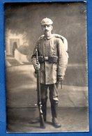 Carte Photo  --  Soldat Allemand En Uniforme - War 1914-18
