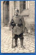 Carte Photo  --  Soldat Allemand En Uniforme - Guerre 1914-18