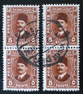 ROYAUME - ROI FOUAD 1ER 1936/37 - 2 PAIRES VERTICALES OBLITEREES - YT 175 - Egypt
